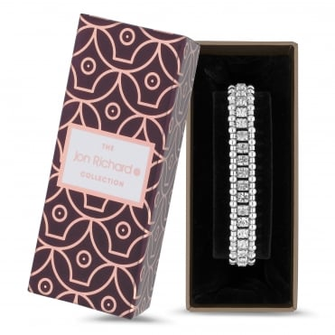 Diamante and bead bracelet in a gift box