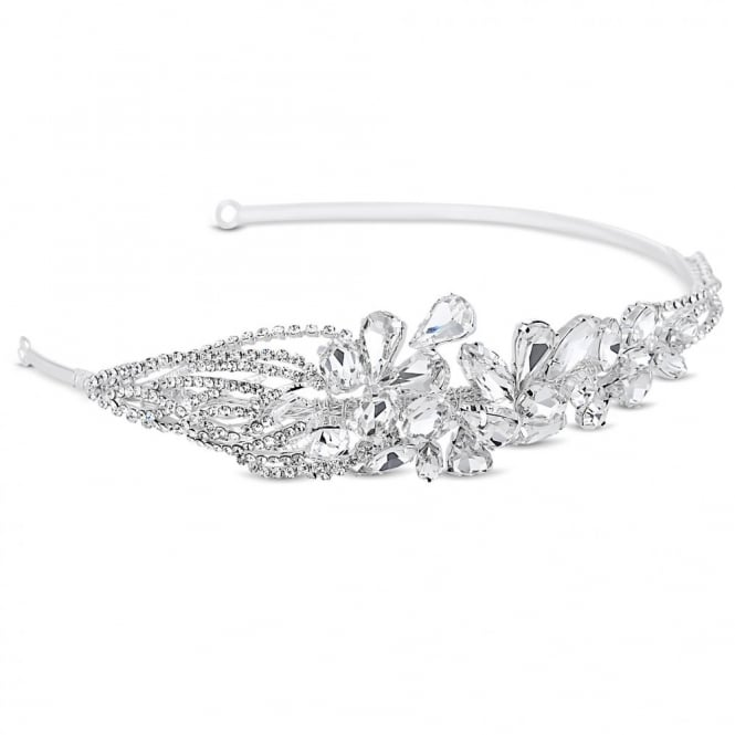 Diamante and crystal teardrop embellished headband
