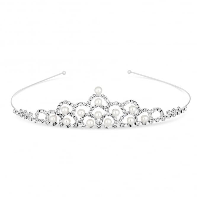 Diamante and pearl tiara