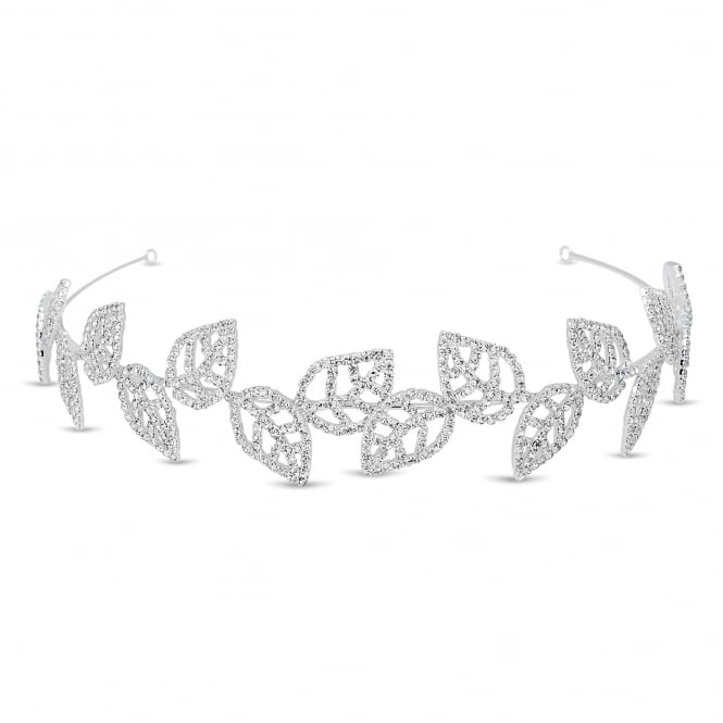 Diamante crystal embellished leaf headband