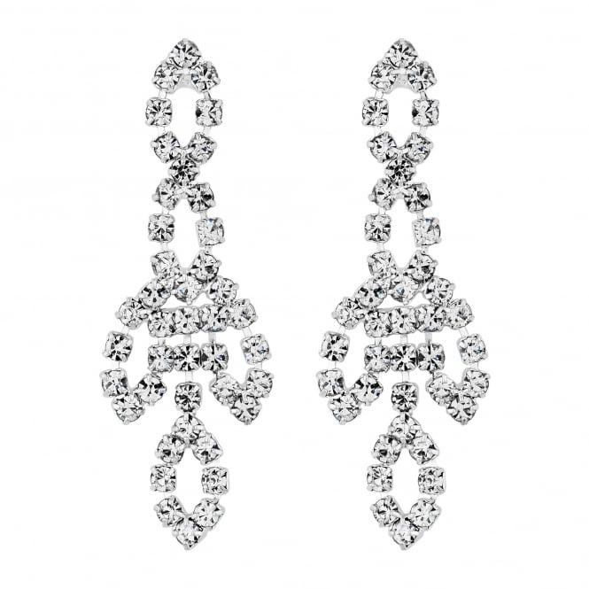 Jon Richard Diamante delicate drop earring