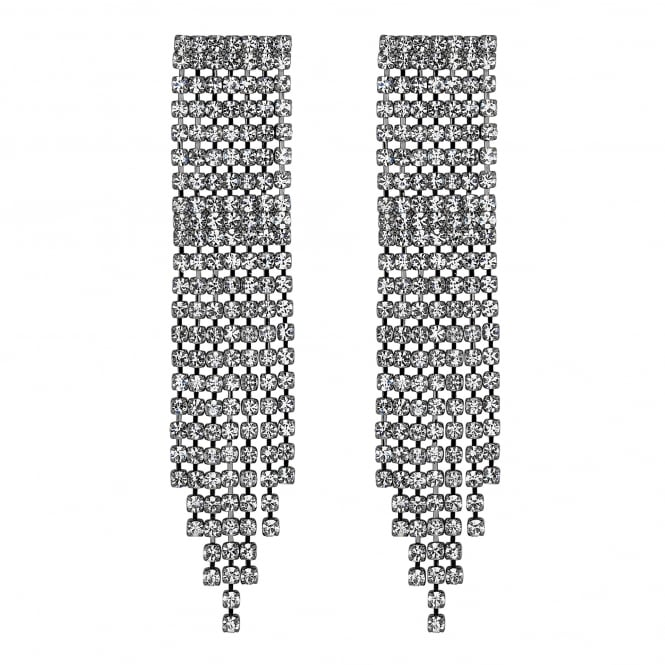 Diamante multi drop earring