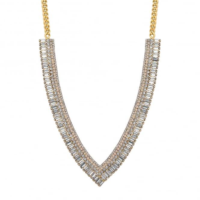 Diamante v collar necklace