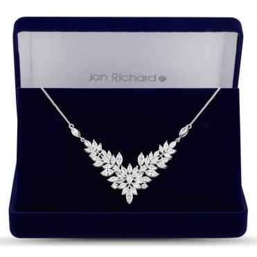 Elvine cubic zirconia crystal necklace