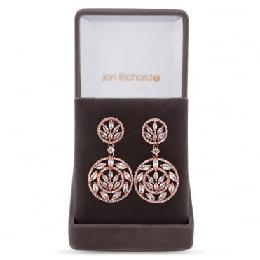 Filigree circle drop earring in a gift box