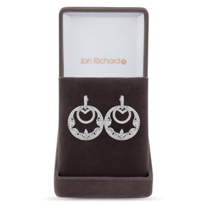 Filigree double circle earring in a gift box