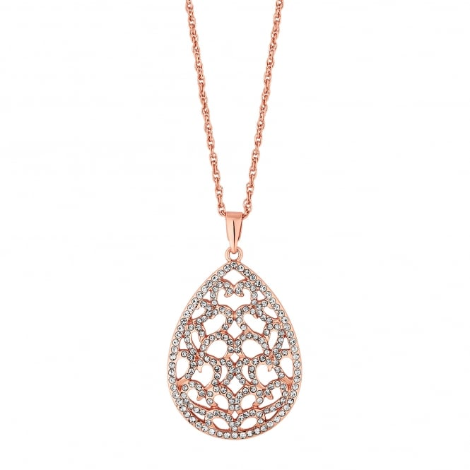 Filigree peardrop necklace