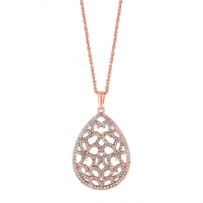 Filigree peardrop necklace