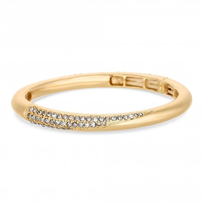 Gold Crystal Pave Bangle