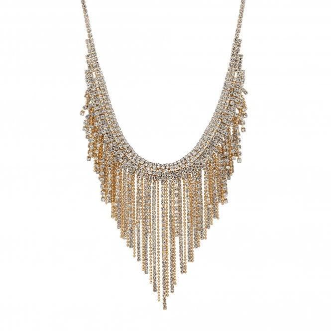 Gold Diamante Chain Statement Necklace