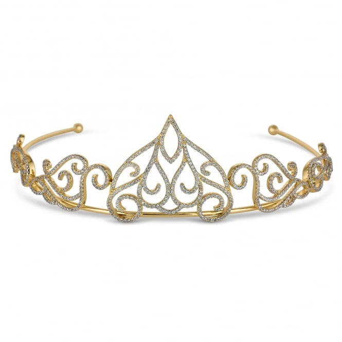 Gold filigree statement tiara