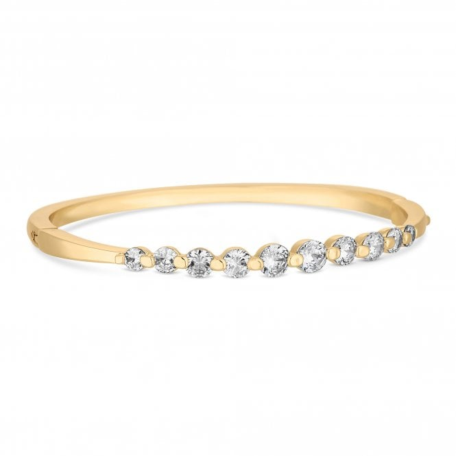 Gold Graduated Cubic Zirconia Bangle