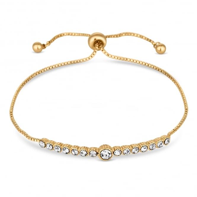 Gold Plated Crystal Bar Toggle Bracelet