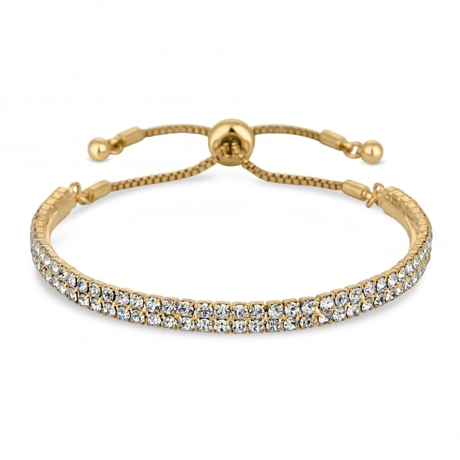 Jon Richard Gold Plated Crystal Bar Toggle Bracelet