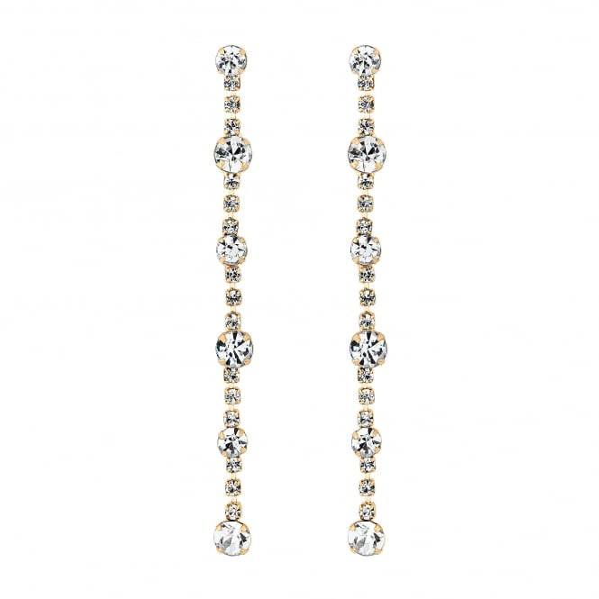 Gold Plated Crystal Circle Drop Earring