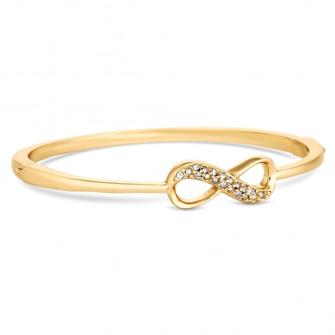 Gold Plated Crystal Infinity Bangle