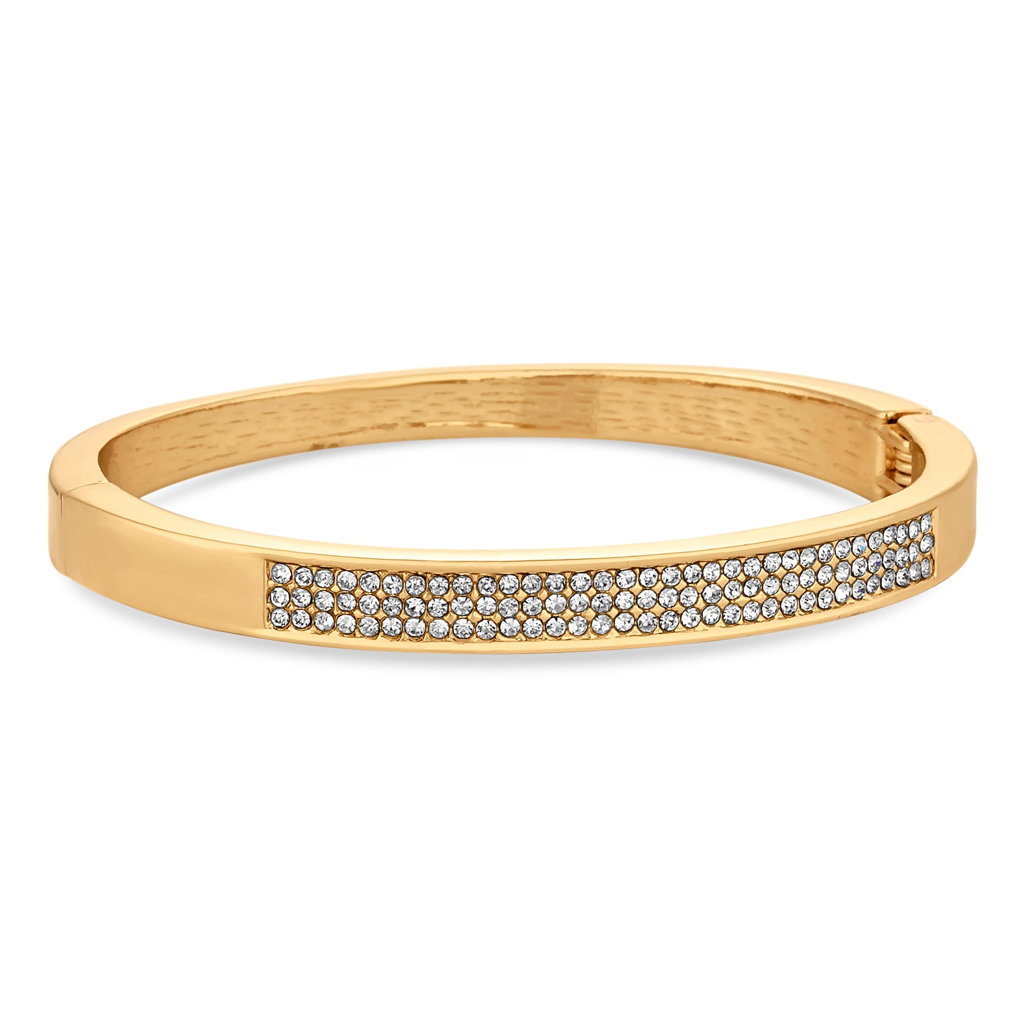 silver metallic pave pav lyst bangles normal tone jewelry product gallery michael bangle in kors