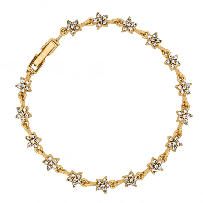 Gold Plated Crystal Star Link Bracelet