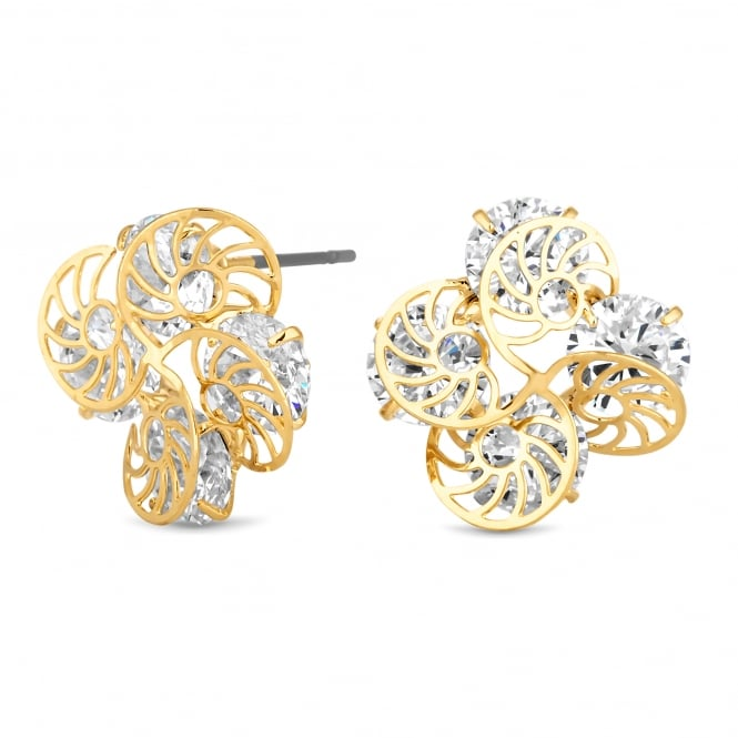 Gold Plated Filigree Twist Stud Earring