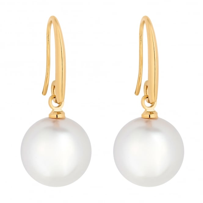 Jon Richard Gold Plated Pave Top Pearl Drop Earring