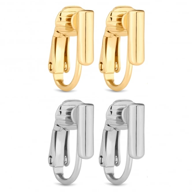 Gold/ Silver Plated Pierced Earring Converters - Pack of 2 Pairs