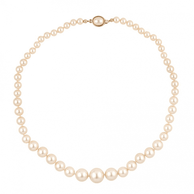 Graduated Pink Pearl Necklace