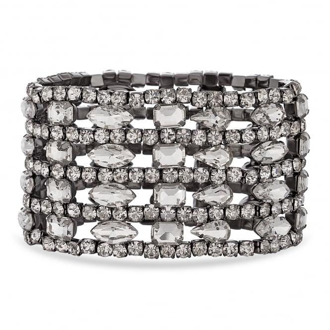 Grey crystal cuff bracelet
