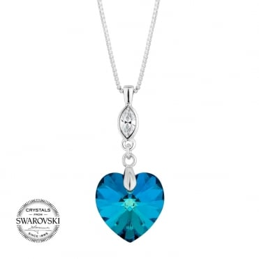 Bermuda blue heart necklace