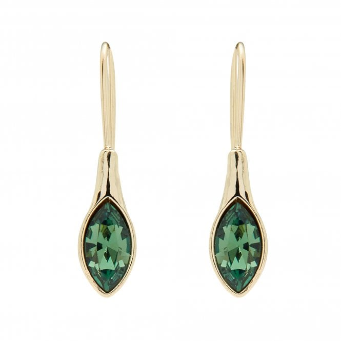 gold plated made with swarovski polished erinite earrings