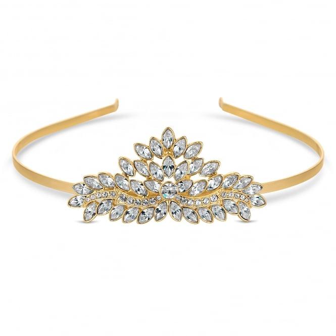 Gold Tiara Embellished With Swarovski Crystals