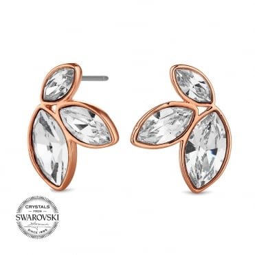 Graduated crystal earring