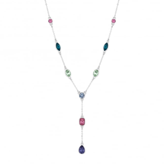 Jon Richard made with Swarovski® crystals Silver Multi Colour Y Drop Necklace Embellished With Swarovski® Crystals