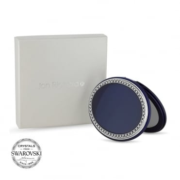 Navy oval compact
