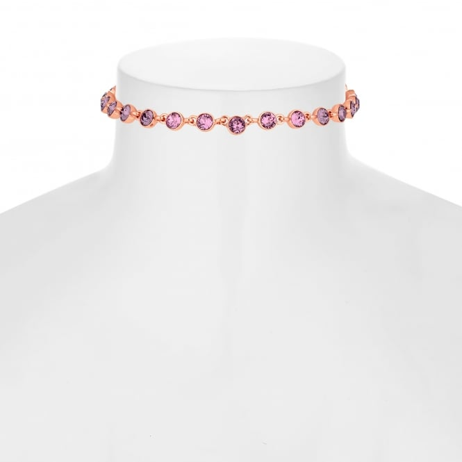 Jon Richard made with Swarovski® crystals Gold Pink Ombre Toggle Necklace Embellished With Swarovski® Crystals