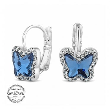 Pave mini butterfly earring