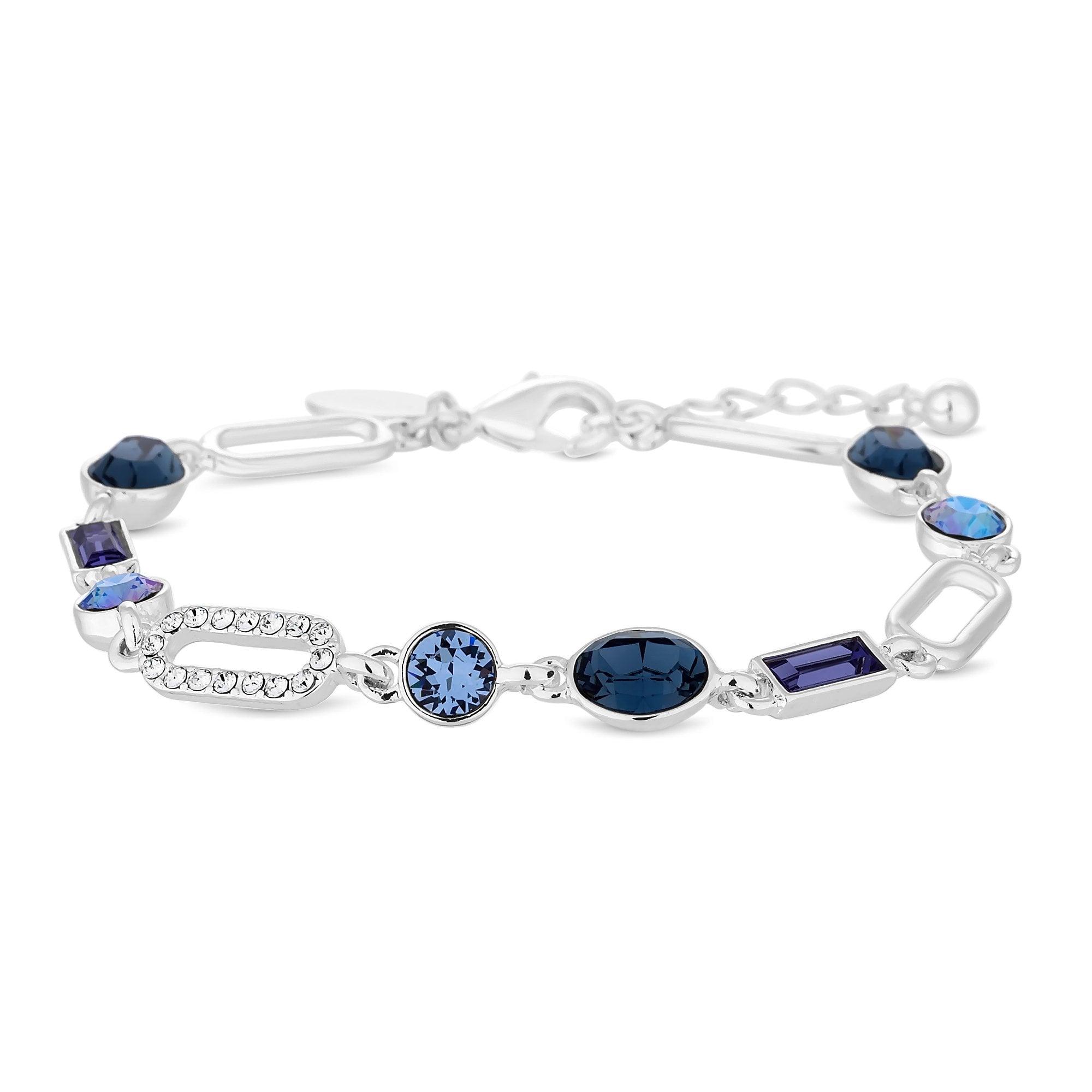 bd236c235f13 Jon Richard made with Swarovski® crystals Polished Pave Open Links Ovals  Allway Bracelet Embellished With