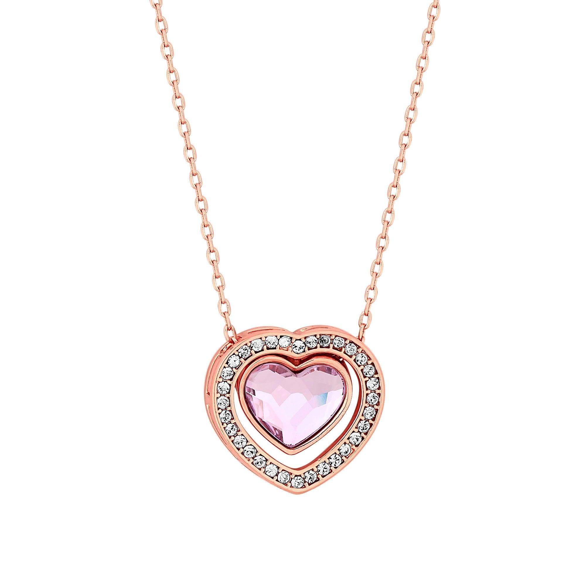 fd70867d487a5 Rose Gold Plated Light Rose Dancing Heart Pendant