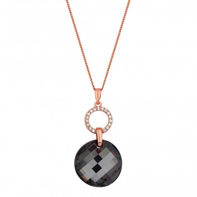 Rose Gold Wave Crystal Pendant Necklace Embellished With Swarovski Crystals