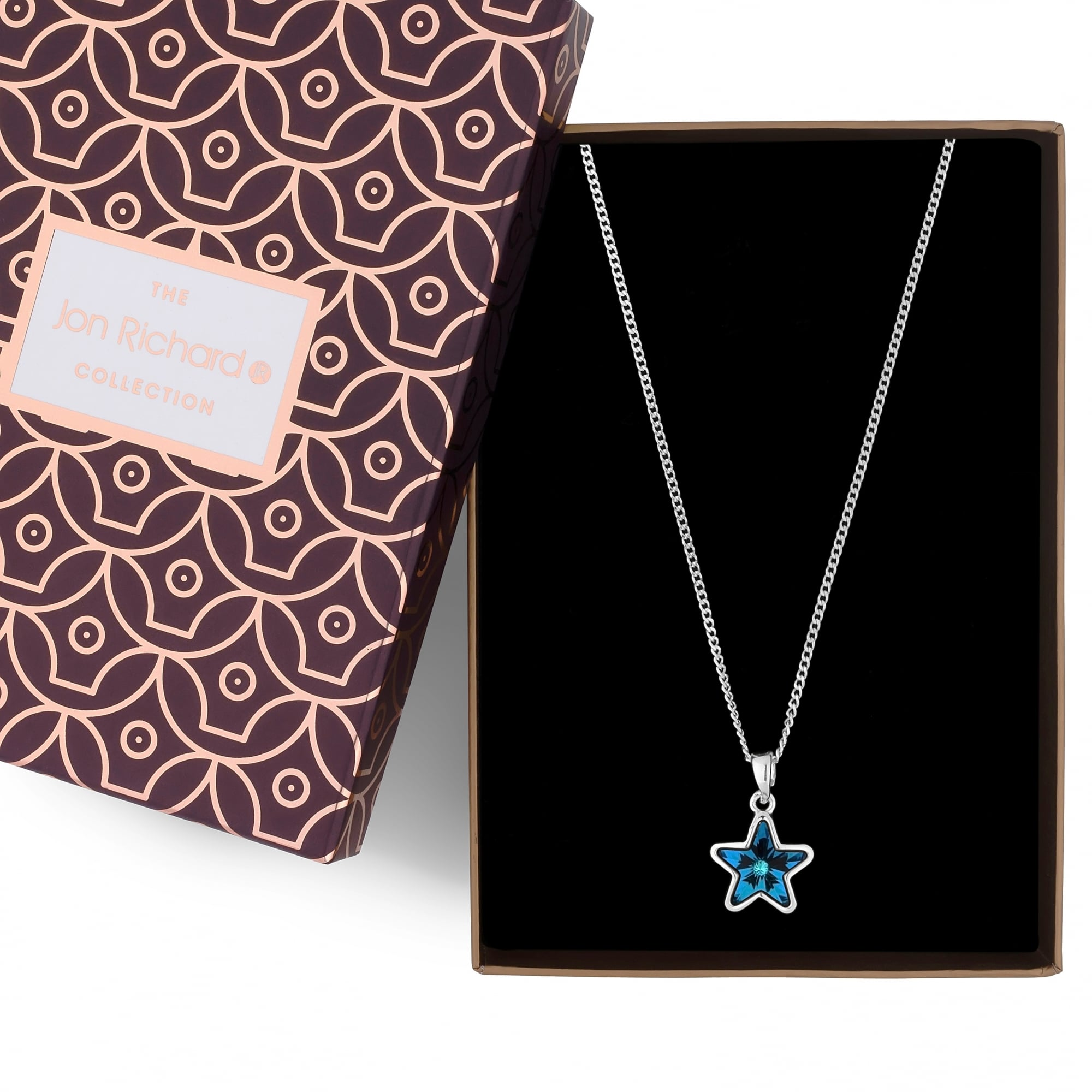 with silver swarovski women top gift girl product necklace box elements love bling chain pendant crystal blue quality wholesale name heart jewelry