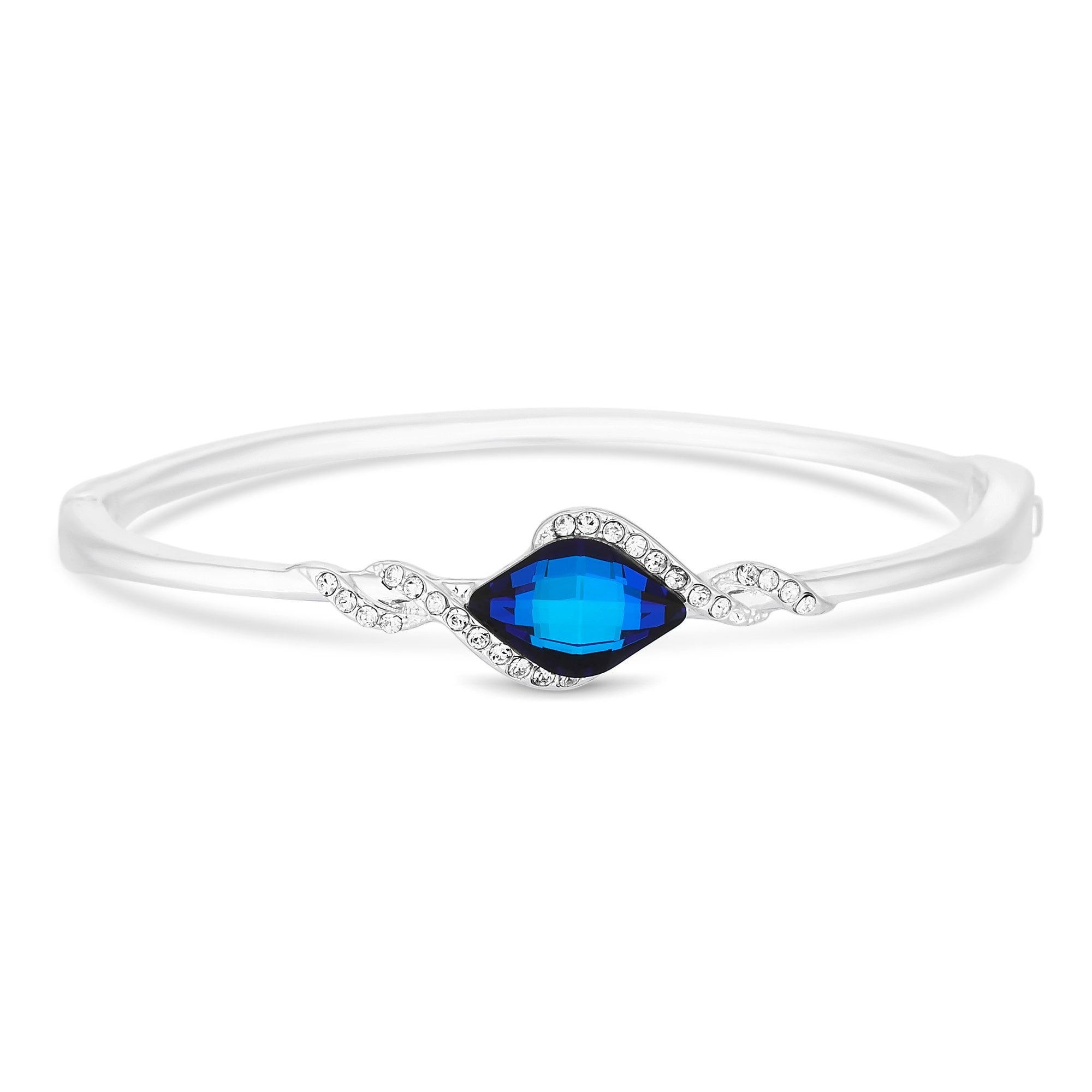 36b78a1f2f5f Jon Richard made with Swarovski® crystals Silver Plated Blue Lemon Fancy  Silver Bangle Bracelet Embellished