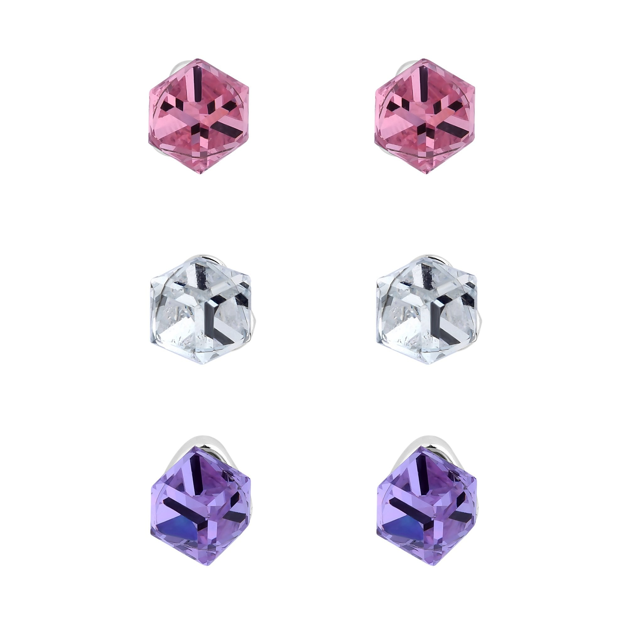 e6971098d2 ... Cube Stud Earring Embellished. Jon Richard Made With Swarovski Crystals  Silver Plated Multi