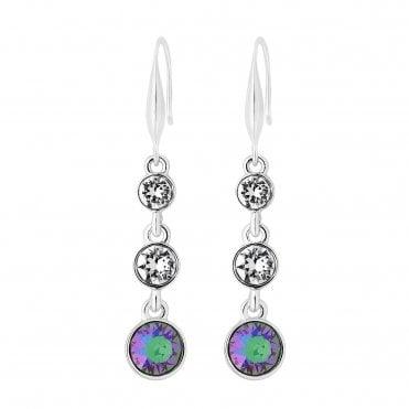 215969367 Silver Plated Purple Paradise Shine Tennis Long Drop Earring Embellished  With Swarovski® Crystals · Jon Richard made ...