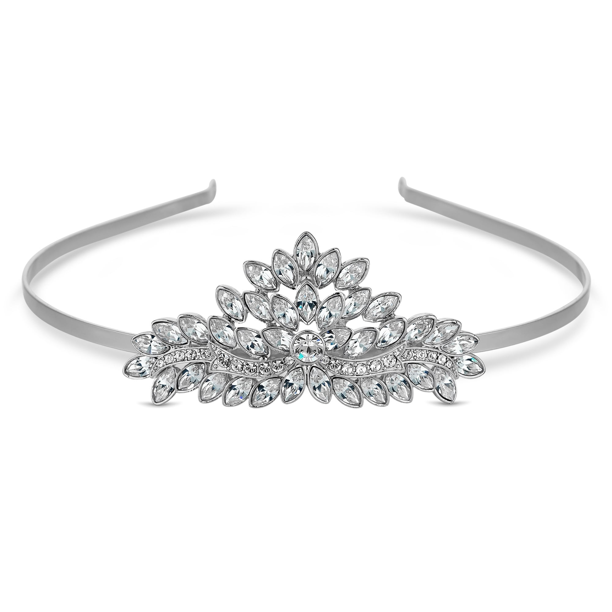 79c1812b58c9 Jon Richard made with Swarovski® crystals Silver Plated Tiara Embellished  With Swarovski® Crystals