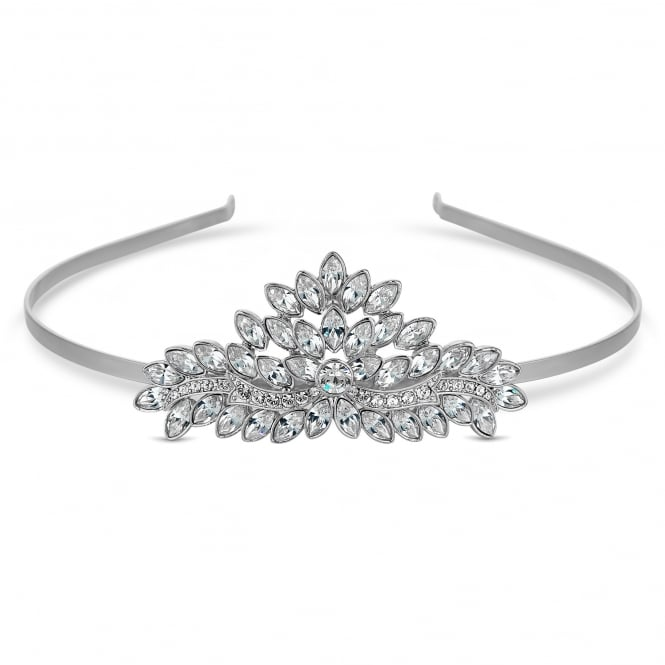 Silver Tiara Embellished With Swarovski Crystals