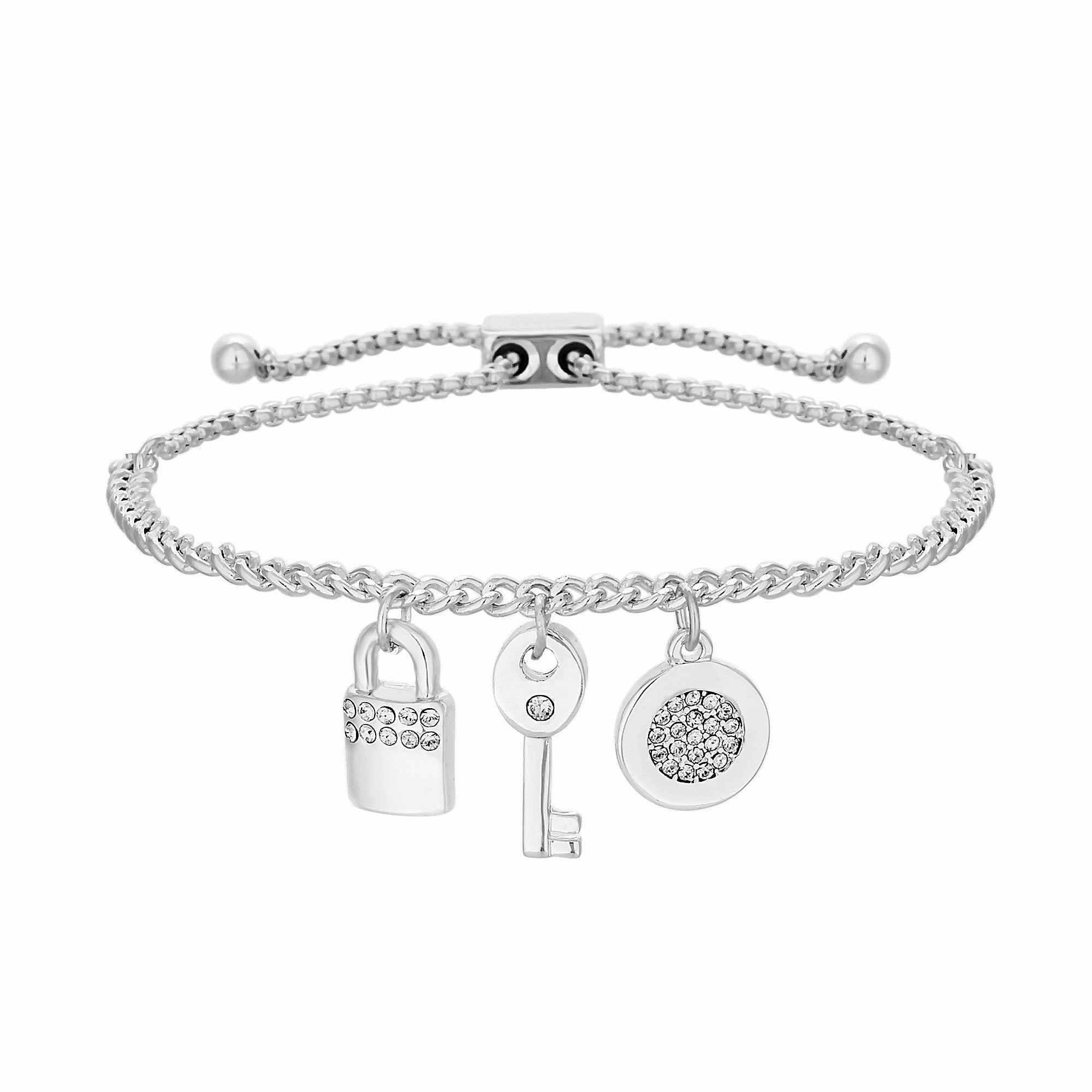 Swarovski Silver Crystal Charm Bracelet