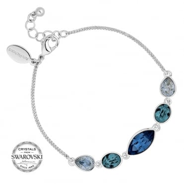 Tonal blue toggle bracelet