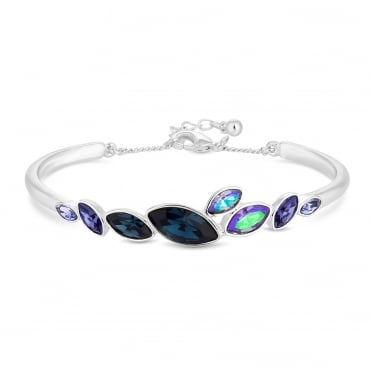 Tonal graduated crystal bracelet created with Swarovski crystals