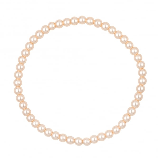Mini Cream Pearl Stretch Bracelet