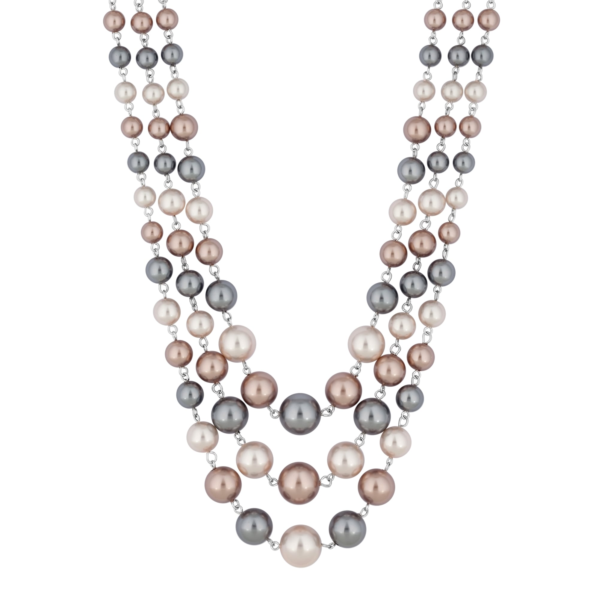 in lyst vince layered multi chain necklace row jewelry normal camuto silver gallery product tone