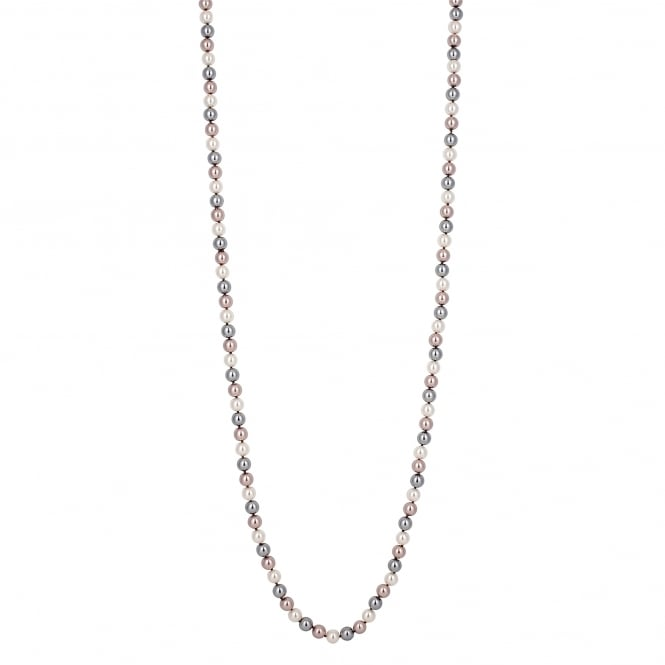 Multi Tonal Pink/ Grey Pearl Long Necklace